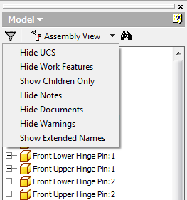Assembly browser show hide stuff