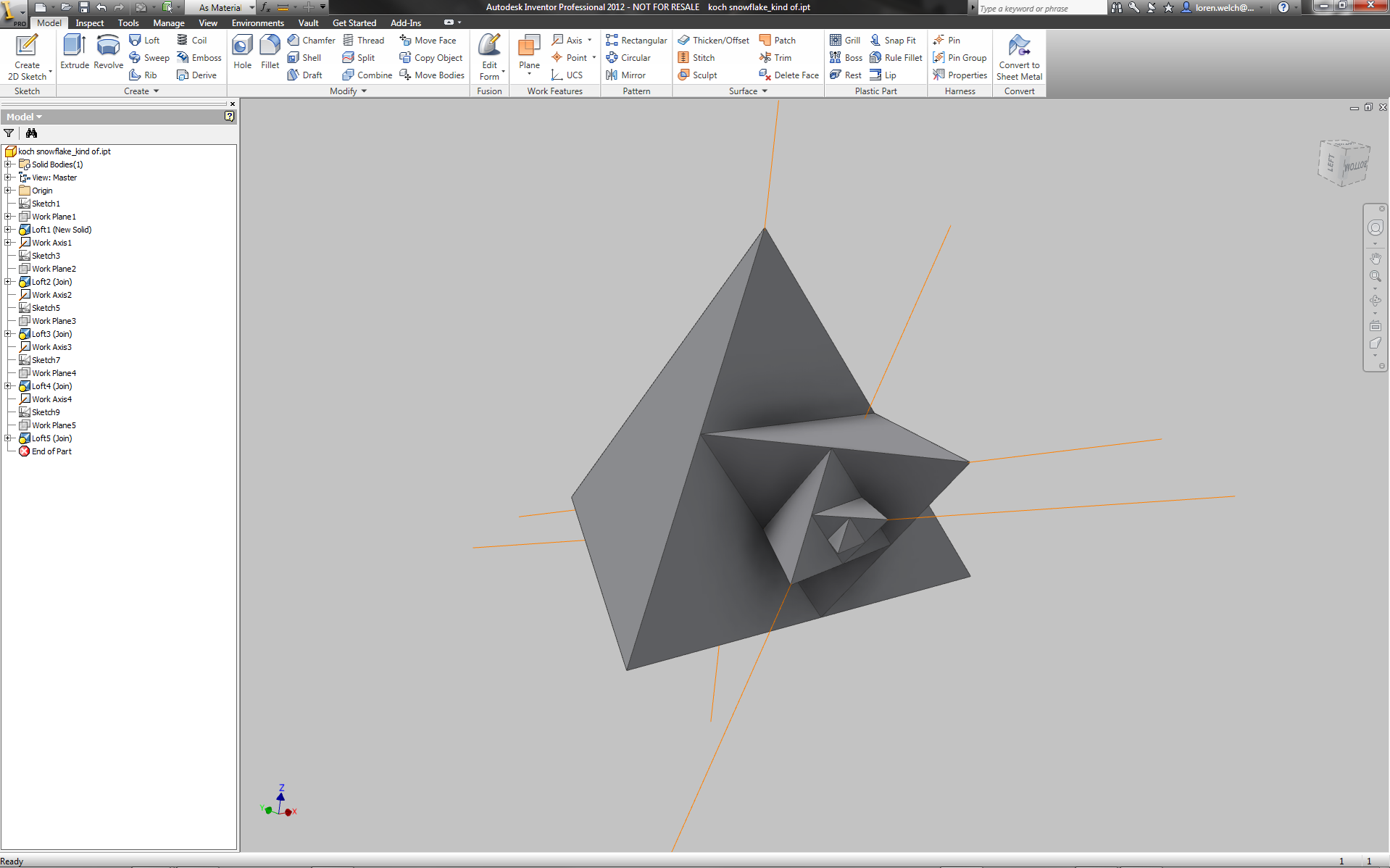 Modeling 3D Fractals with Autodesk Inventor 2012
